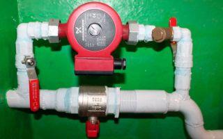 Порядок установки насоса в систему отопления