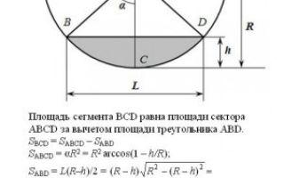 Формула для расчета объема газа в трубе