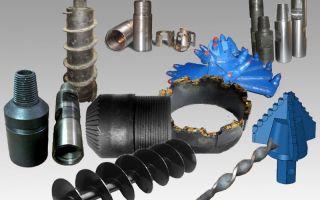 Разновидности инструментов, применяемых для бурения