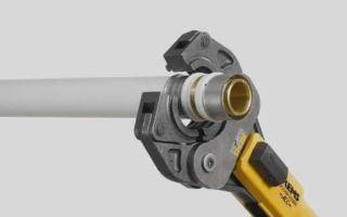 Инструмент для пресс фитинга сшитый полиэтилен