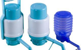 Виды и устройство насосов для воды в бутылях