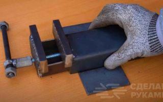 Денис молоканов сделал тиски станочные из профильной трубы