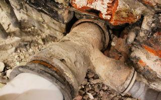 Демонтаж канализационных чугунных труб фер
