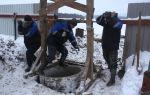 Устройство и особенности копки колодцев зимой