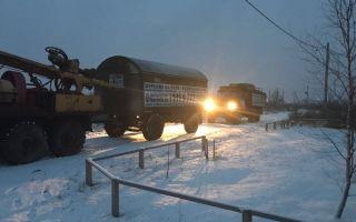 Как выполнять бурение скважины на воду зимой?
