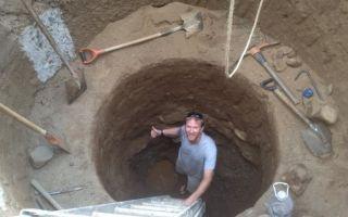 Как правильно выкопать колодец с кольцами?