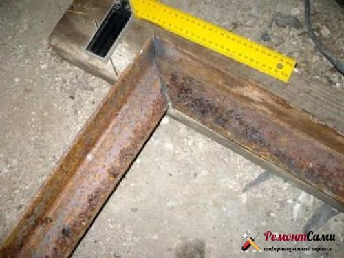 Двери металлические из проф труб
