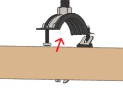 Хомут трубный с резиновой прокладкой 108 116мм