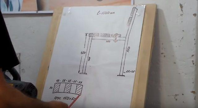 Скамья из профильной трубы без спинки своими руками