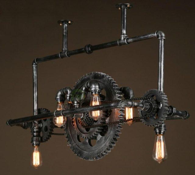 Светильник из металлических труб своими руками
