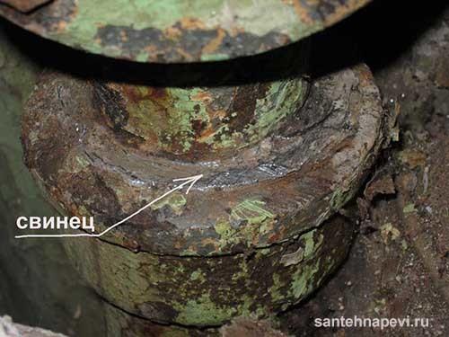 Сера для чеканки канализационных труб