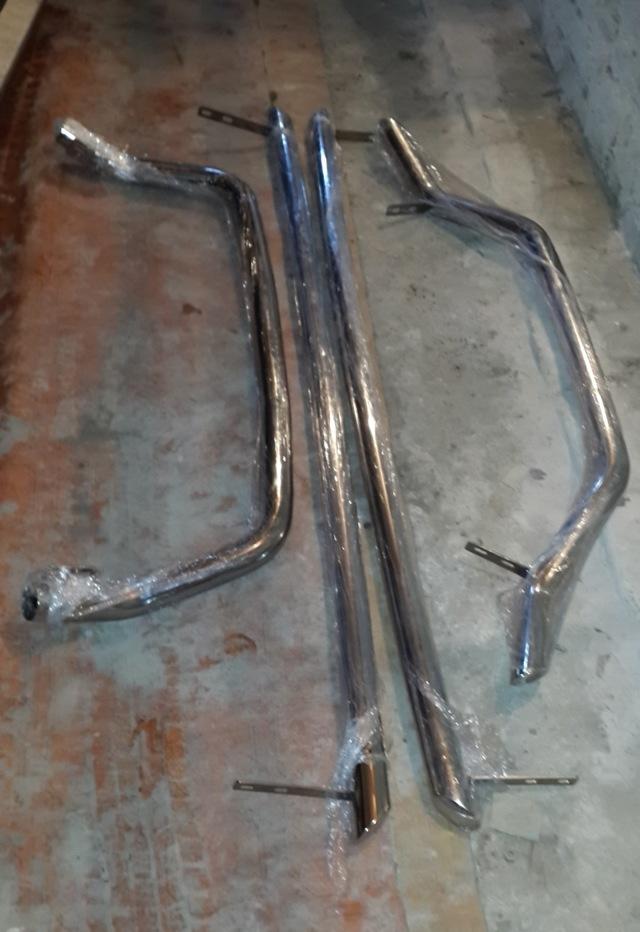 Хромированные трубы для тойота