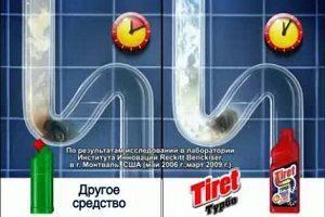 Тирет турбо средство для прочистки труб