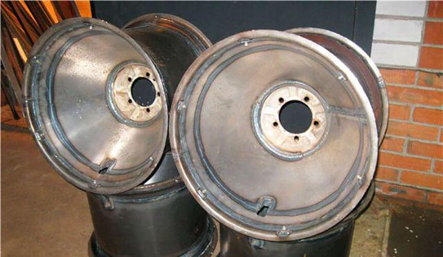 Самодельные диски из труб