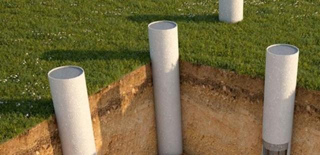 Фундамент для бани из канализационных труб своими руками