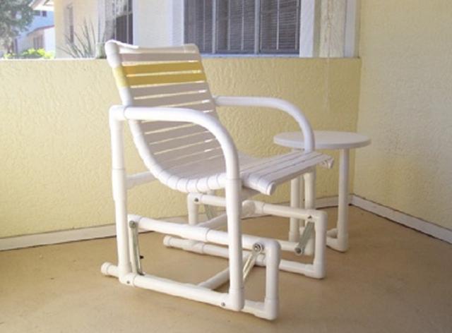 Складное кресло из полипропиленовых труб чертежи
