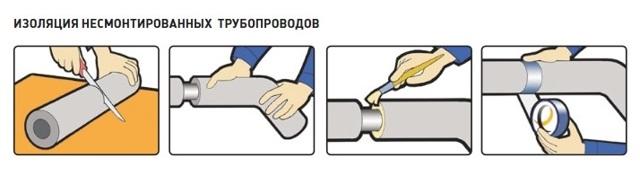 Как надеть энергофлекс трубу