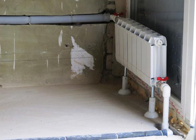 Система отопления когда трубы идут под полом