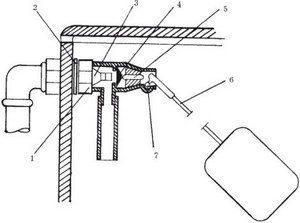 Ремкомплект запорной арматуры сливного бачка
