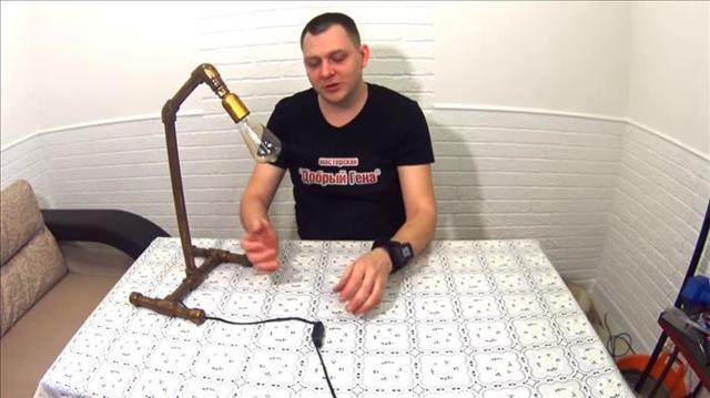 Торшер из полипропиленовых труб своими руками