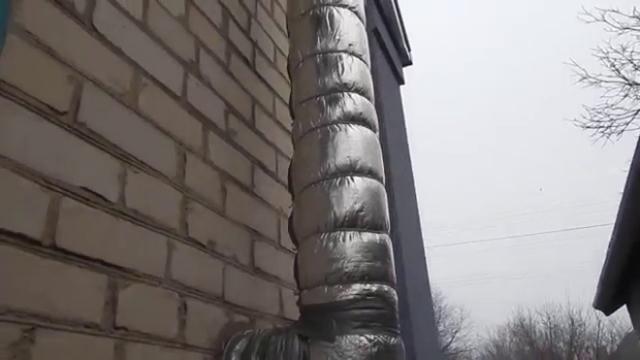 Толщина утеплителя для трубы дымохода