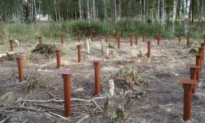 Толщина стенки труб для свайных оснований