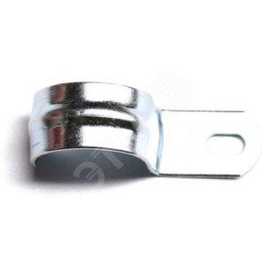 Скоба оцинкованная с одним отверстием для трубы d32 мм