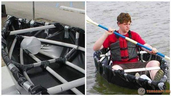 Сделай сам лодка из пластиковых труб