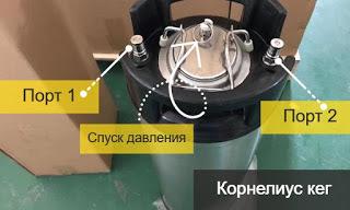Кег корнелиус kegland с фитингом ball lock 9 5 л