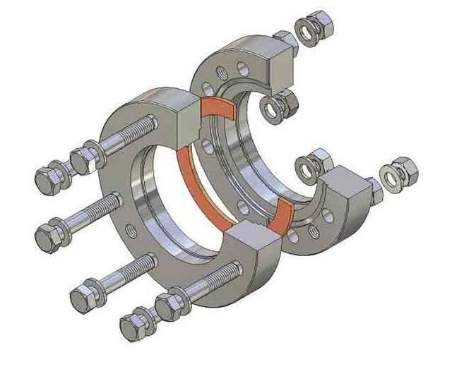 Фланцевое соединение трубопроводов отопления