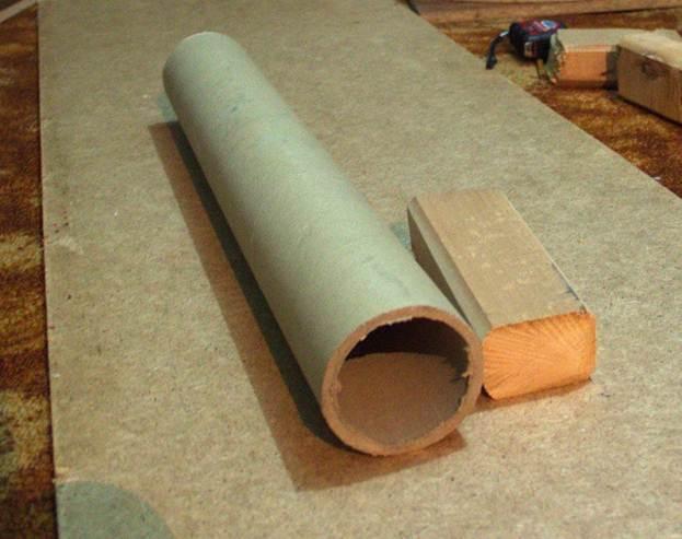 Сделать когтеточку из канализационной трубы