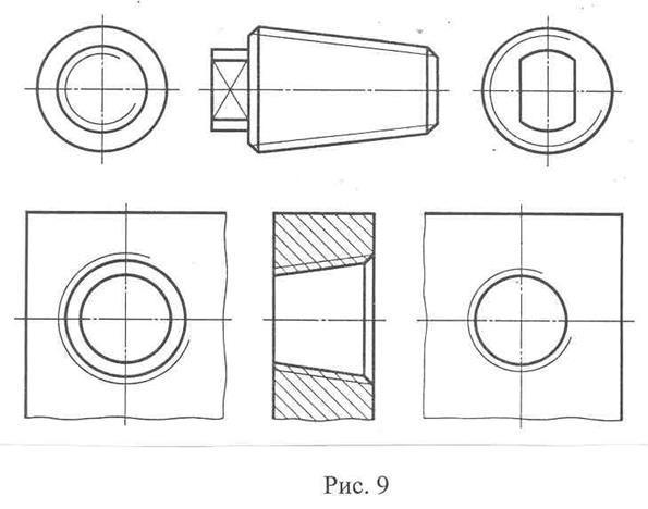 Сбег трубной цилиндрической резьбы