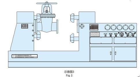 Испытательный стенд для гидравлических испытаний запорной арматуры