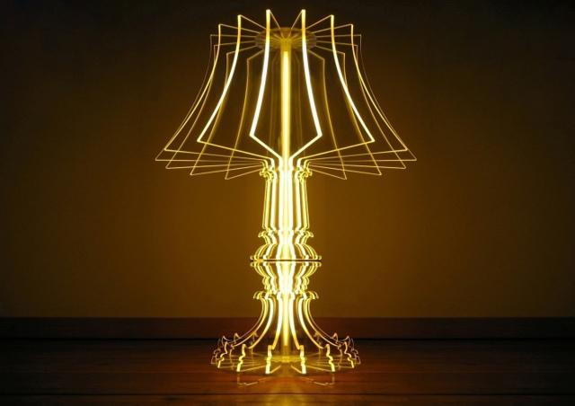 Светильник из трубы оргстекло