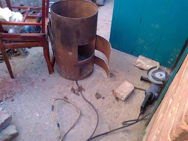Самодельные буржуйки для гаража из трубы