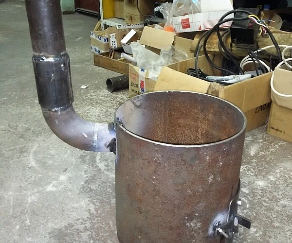 Диаметр трубы для казана 12 литров