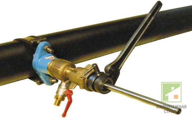 Холодная врезка в трубопровод под давлением оборудование