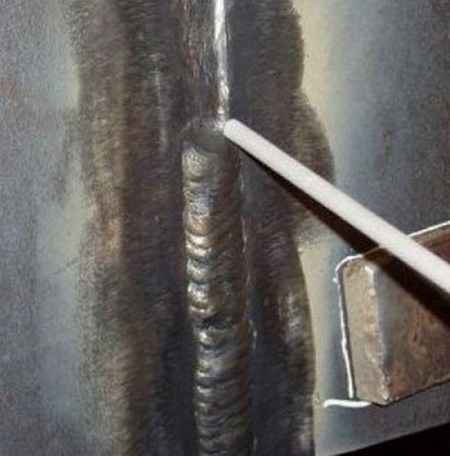 Сварка потолочных швов труб