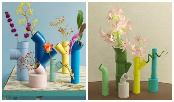 Сделай сам напольную вазу из труб