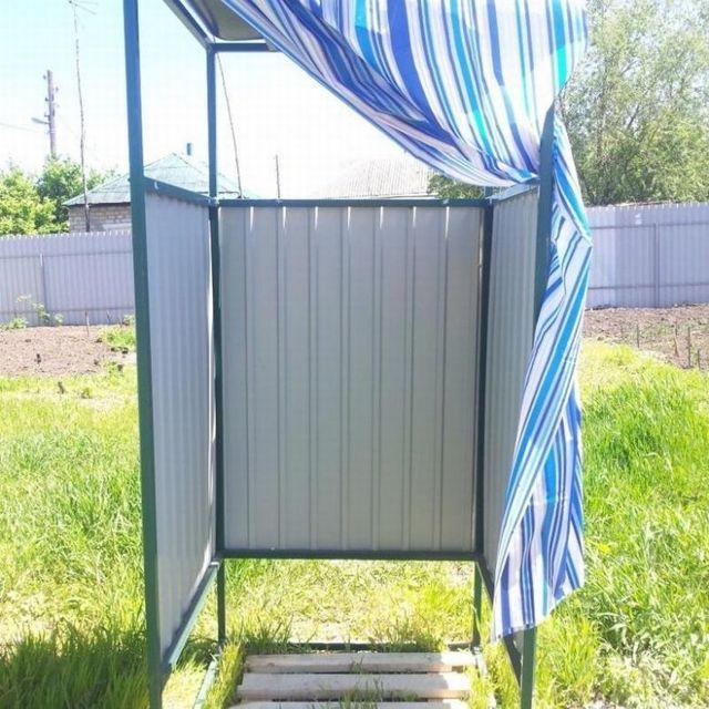 Сварить душ из профильной трубы для дачи