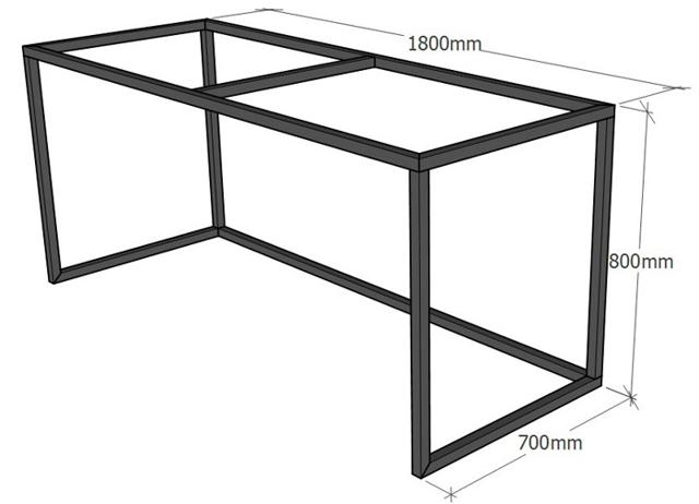 Сделать стол из трубы квадрат
