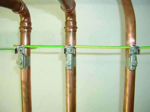 Сечение проводника для заземления труб