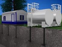 Свайный фундамент для трубопроводов