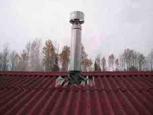 Труба через крышу с мягкой черепицей