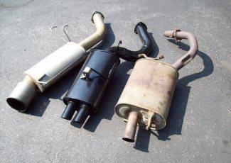 Две выхлопные трубы ваз 2107