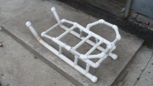 Сани из алюминиевых труб