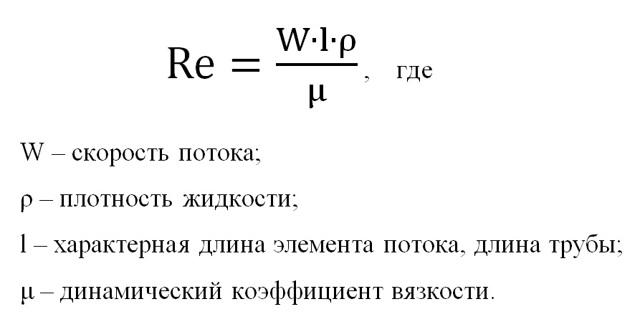Формула местной скорости трубопровода