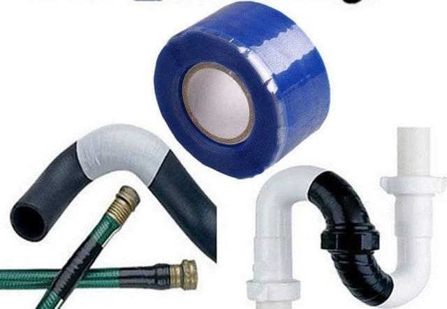 Сантехнический скотч для канализационных труб
