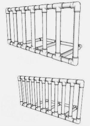 Скамейка из пропиленовых труб своими руками