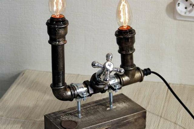Лампа из фитингов своими руками
